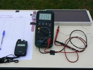 Avec de vrais instruments de mesure